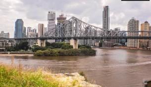 Adelaide bridge with logo