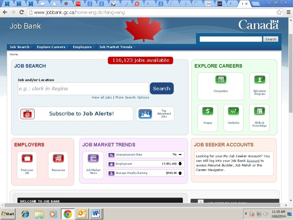 how to go canada for job