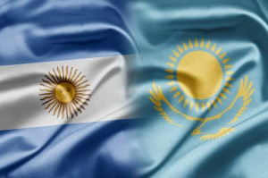 argentina and kazakh flags