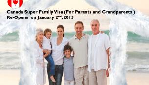 Canada Super Family Visa, Parents and Grandparents visa Canada
