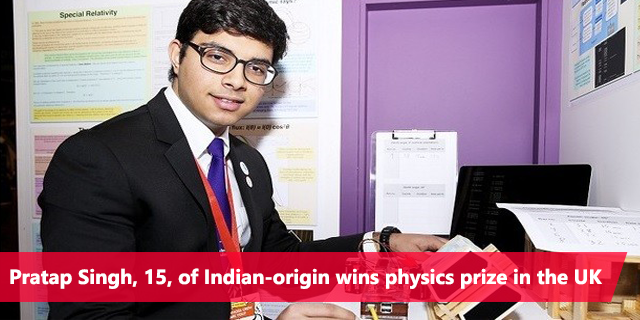 Pratap Singh wins UK physics prize