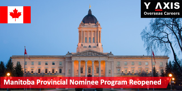 Manitoba Provincial Nominee Program Reopened