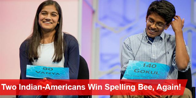 Two Indian-Americans Win Spelling Bee