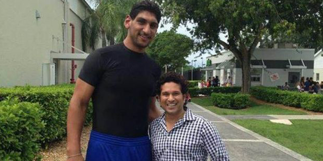 Satnam Singh with Sachin