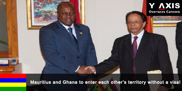 Mauritius and Ghana to enter each other's territory without a visa