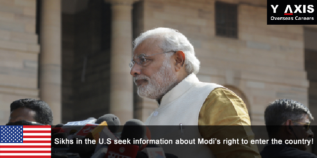 Sikhs in the U.S seek information about Modi's right to enter the country!