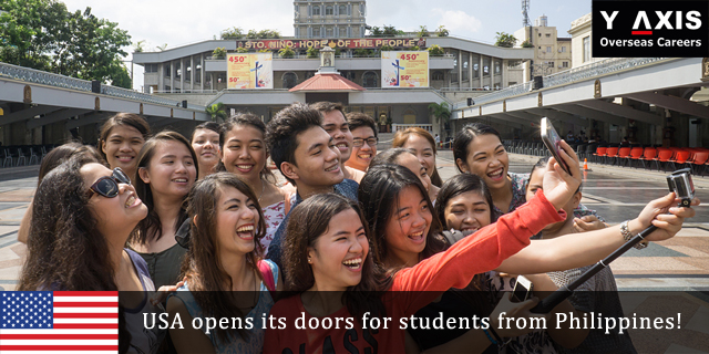USA opens its doors for students from Philippines!
