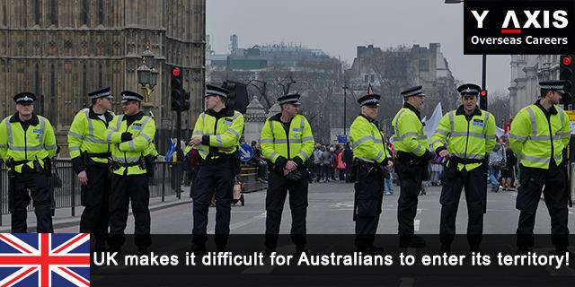 UK's roughness towards Australia