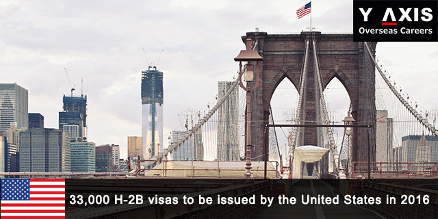 33,000 H-2B visas to be issued by the US