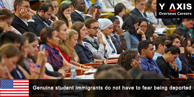 Genuine student immigrants do not fear