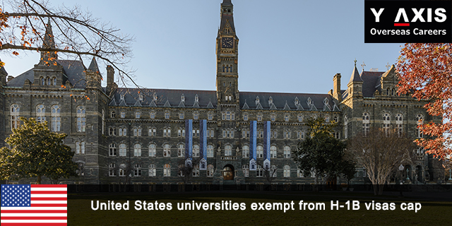 US universities exempt from H-1B visas cap