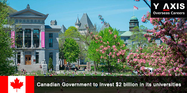 Canadian Government to invest in its universities