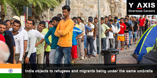 India objects to refugees and migrants being under the same umbrella