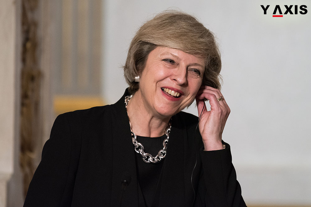 Theresa May has indicated that visas may be increased for the Indians