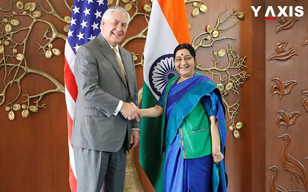 Sushma Swaraj and Rex Tillerson
