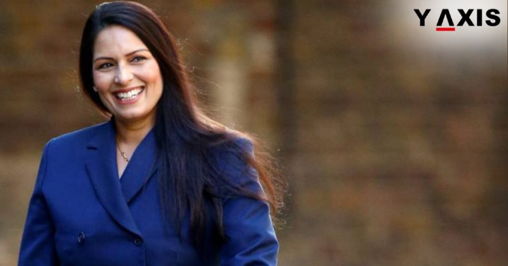 Britain's Home Secretary Priti Patel