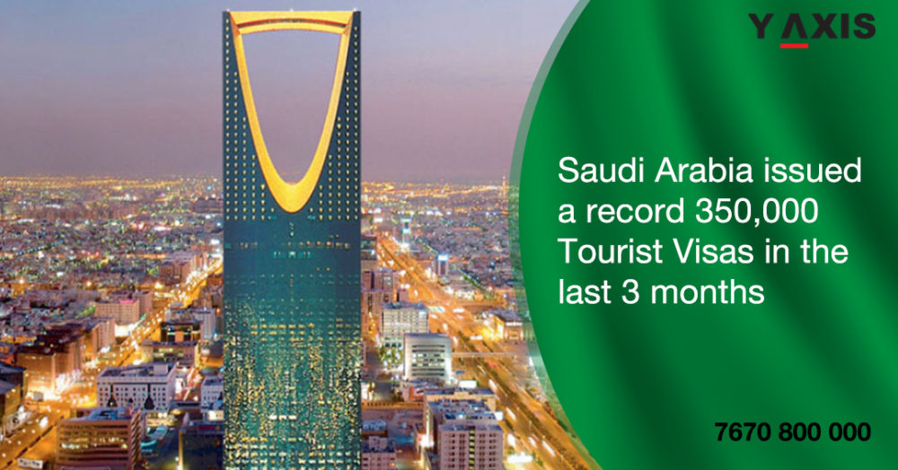 Saudi Arabia issued 350,000 Tourist Visas