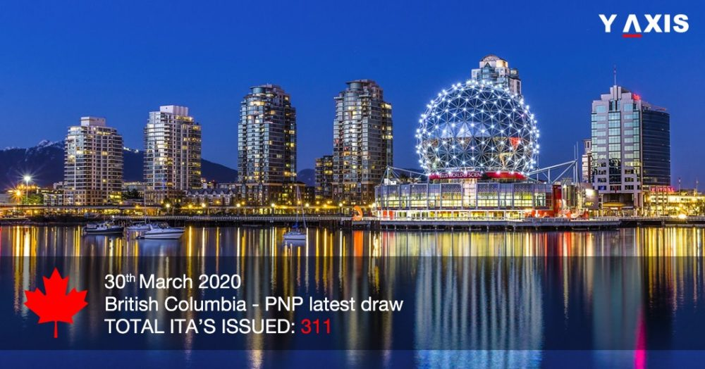 British Columbia holds latest draw, 311 invited