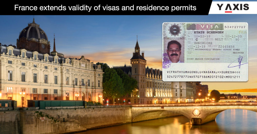 France extends validity of visas and residence permits