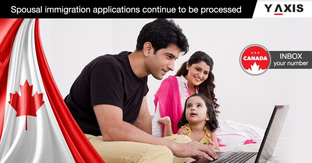 Spousal immigration applications continue to be accepted and processed