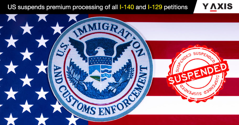US suspends premium processing of all I-140 and I-129 petitions