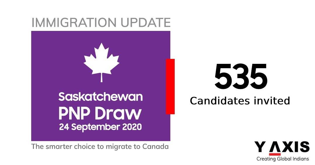 Saskatchewan has invited 535 immigration candidates