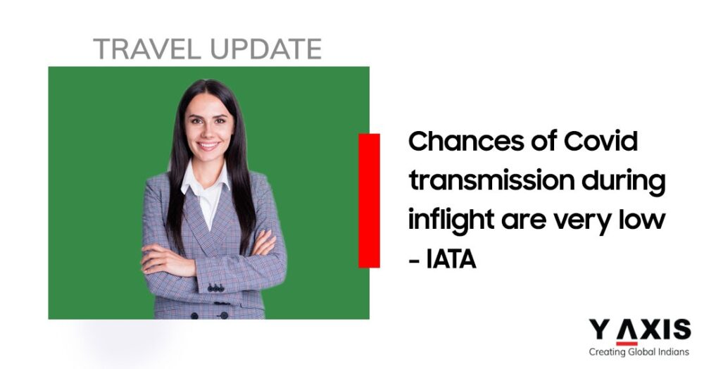 IATA Chances of COVID-19 transmission during inflight very low