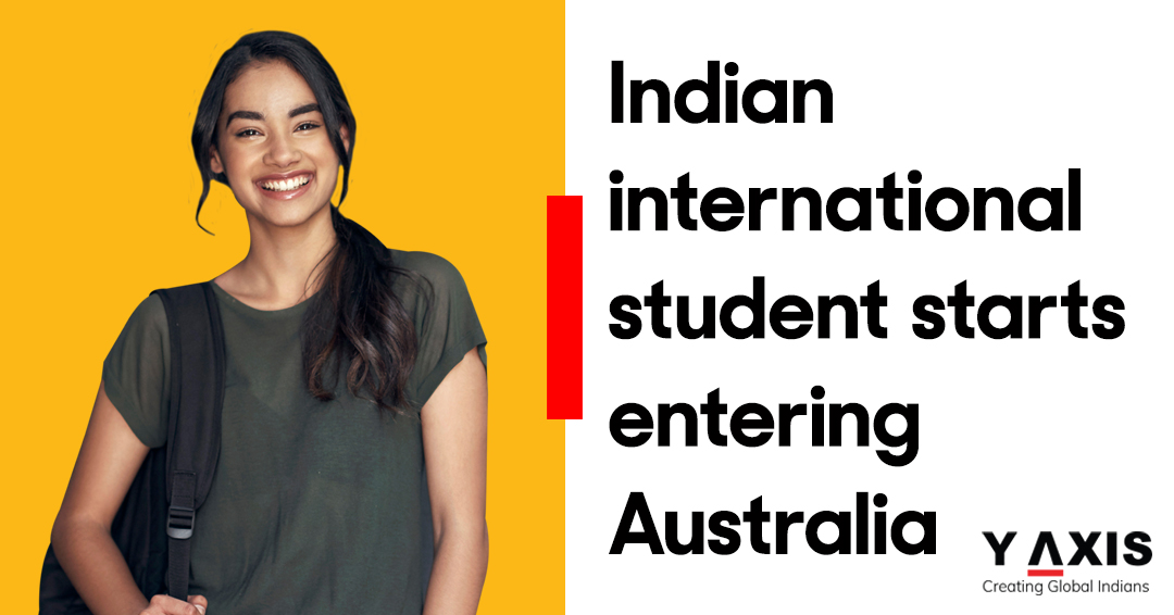 Indian international student starts entering Australia