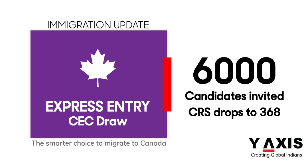 Express Entry: Latest IRCC draw has a CRS 368 cut-off