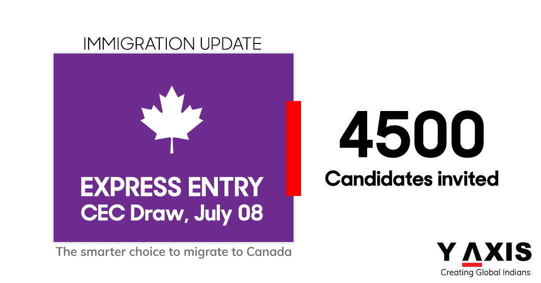 Express Entry Draw invites 4,500 CEC candidates