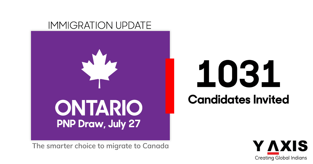Ontario PNP invites 1,031 Express Entry candidates in latest OINP draw