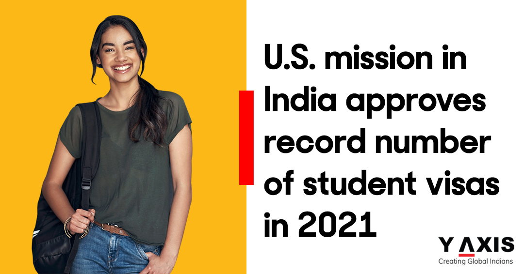 U.S. mission in India approves record number of student visas in 2021