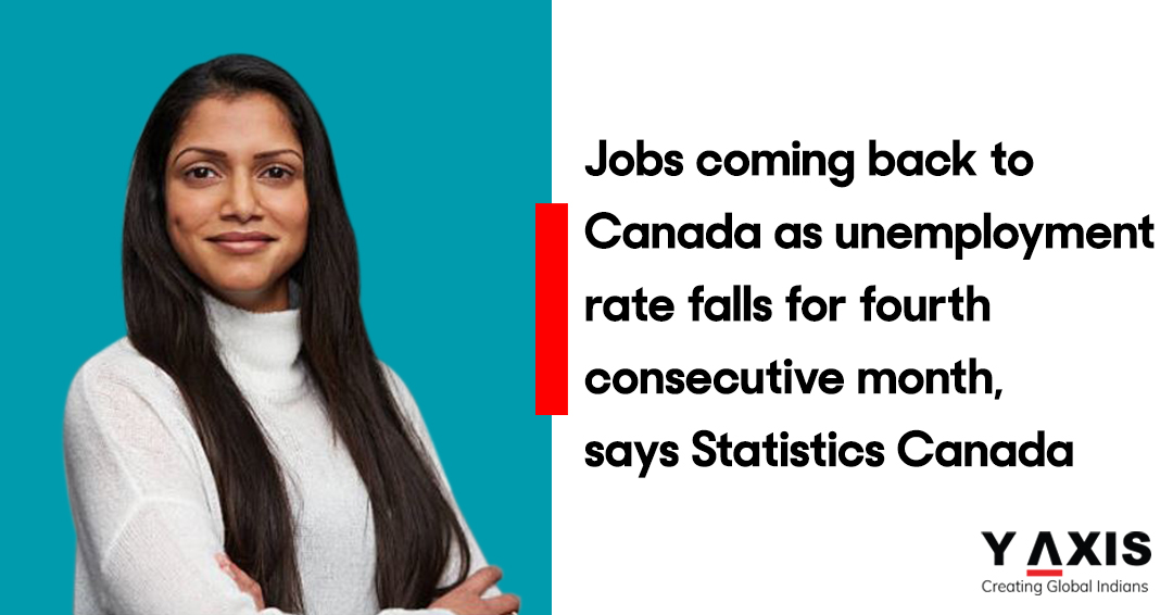 Jobs coming back to Canada as unemployment rate falls for fourth consecutive month, says Statistics Canada