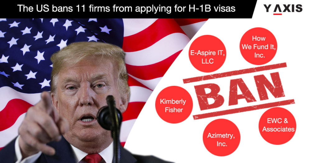 The US bans 11 firms from applying for H-1B visas