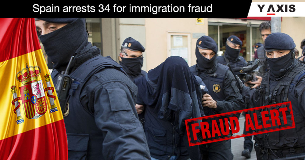 Spain arrests 34 for immigration fraud